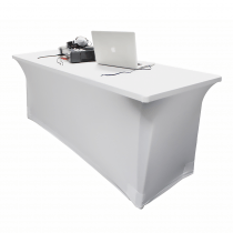 LEDJ 6ft White Lycra Table Scrim