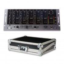 Numark C3 USB DJ Mixer Rackmount 5CH Disco Mixing Desk + Flightcase