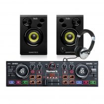 Numark DJ2GO MKII DJ Controller + Studio Monitor Speakers/ Headphones DJ Bundle