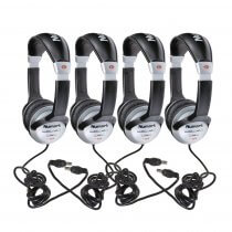4x Numark HF125 DJ Stereo Headphones Adjustable Disco Studio Learning Music Tech College