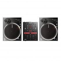 Numark NTX1000 Turntable & Scratch DVS Mixer Bundle DJ Disco Vinyl Record