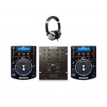 Numark DJ Bundle - 2x NDX500 Professional CD Player USB CDJ & Numark M101 USB Mixer