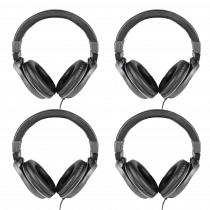 4x AVLINK Comfort Headphones with In-Line Volume Control HiFi Listening Studio