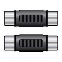 2x QTX Coupler RCA Socket – RCA Socket Phono Joiner