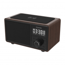 AV:LINK Fusion: Bluetooth Speaker with Clock Radio and Wireless Charging Plate