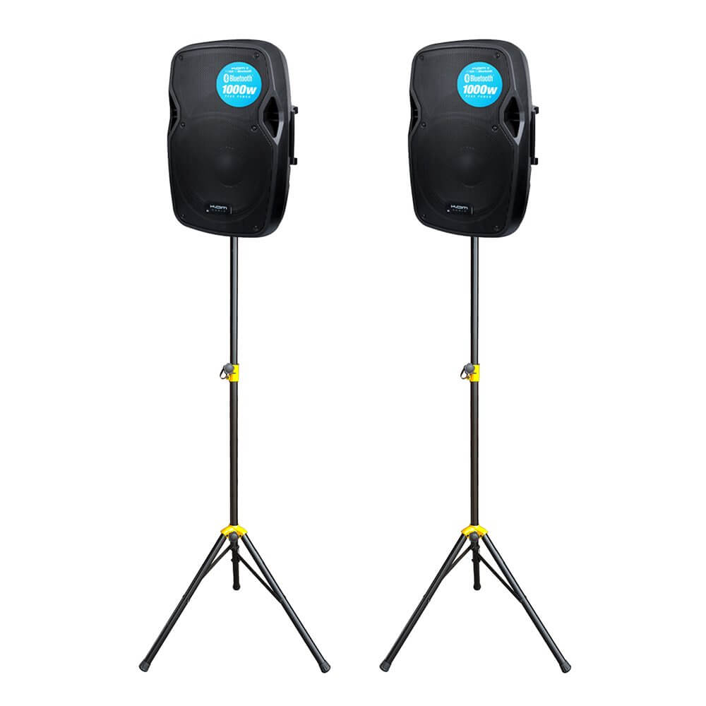 2x Kam RZ12A V3 1000W Active PA Speaker Bluetooth DJ Disco Sound System