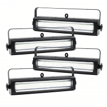 4x Equinox Blitzer II LED Strobe and DMX Cables