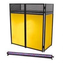 Equinox Combi Booth System inc RGB 1M Lighting Batten