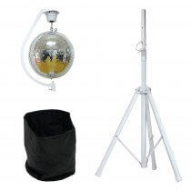 Equinox Curve Mirror Ball Hanging Bracket & Motor inc. 500mm Mirror Ball, Stand and Bag