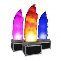 2x Equinox 2M DMX Flame Machine RGBA Flightcased LED Light Effect DJ Disco