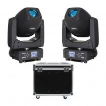 Equinox Fusion 200 Zoom Spot LED Moving Head Bundle