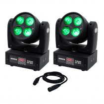2x Equinox Fusion 50 HEX Moving Head
