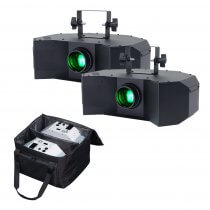 Equinox Helix 100W Gobo Flower Pair With Carry Bag