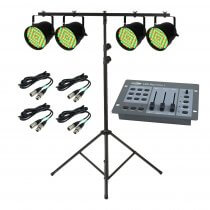 PAR 64 LED Lighting Package Inc Stand, Controller & Cables