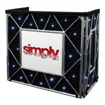 Equinox Truss Booth Starcloth with White LEDs