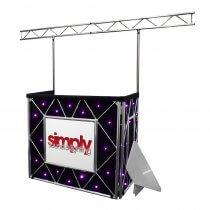 Equinox Truss Booth Complete Setup inc. Booth, Gantry, Shelves & Star Cloth (Quad LEDs)