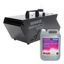 Equinox Vapour 1000 Haze Machine inc. 5L Fluid