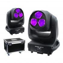2x Equinox Vortex LED Moving Head 120W RGBW Disco DJ Effect Package