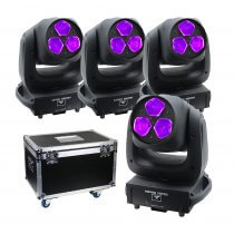 4x Equinox Vortex LED Moving Head 120W RGBW Disco DJ Effect Package