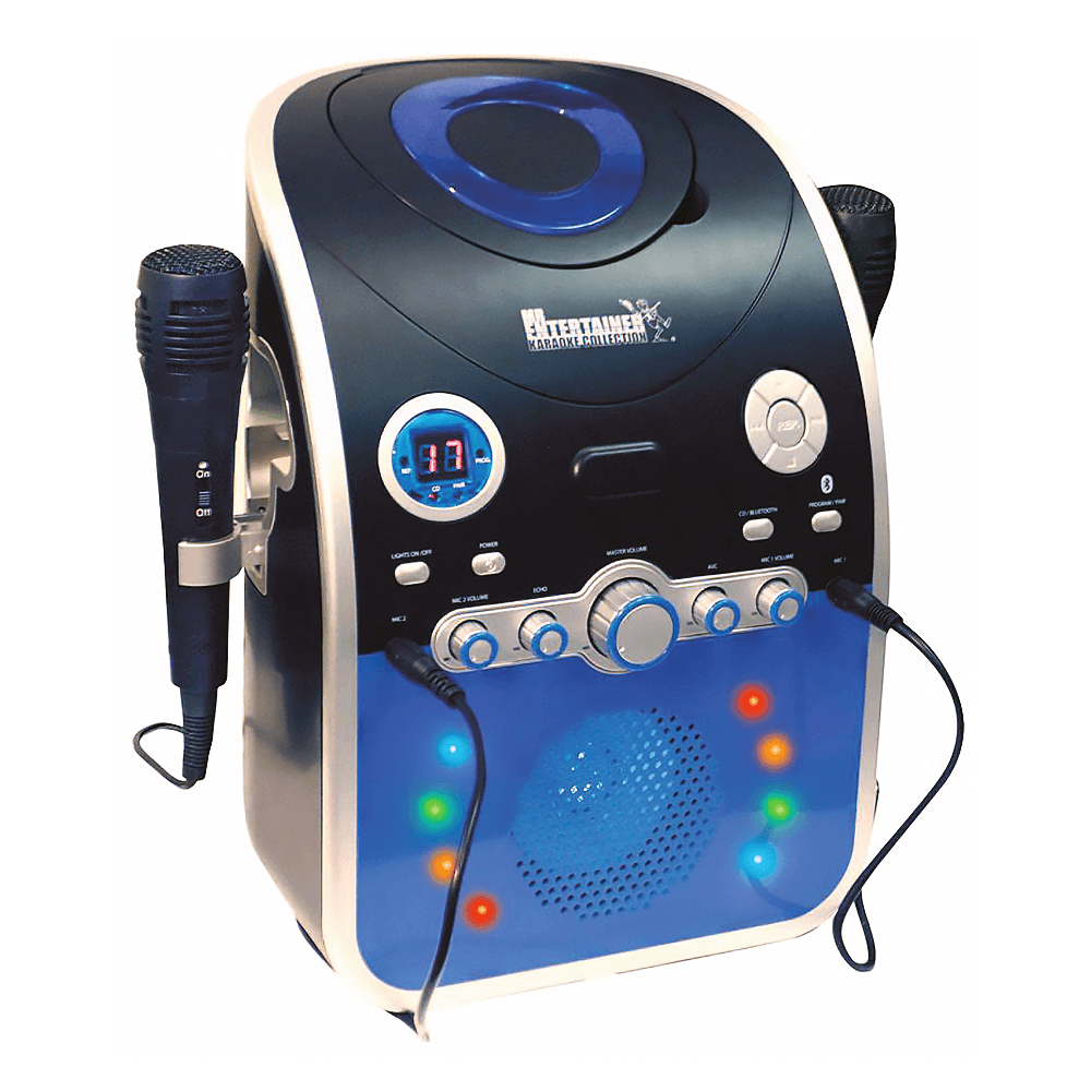Mr Entertainer CDG Karaoke Machine With Bluetooth & Flashing LED Lights