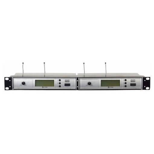 "DAP Dual 19"" Rack Adaptor Mount Tray Shelf for 2 x Wireless Microphone Receiver"