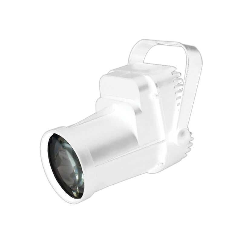 Equinox LED 3W Pinspot Spot Light White Housing