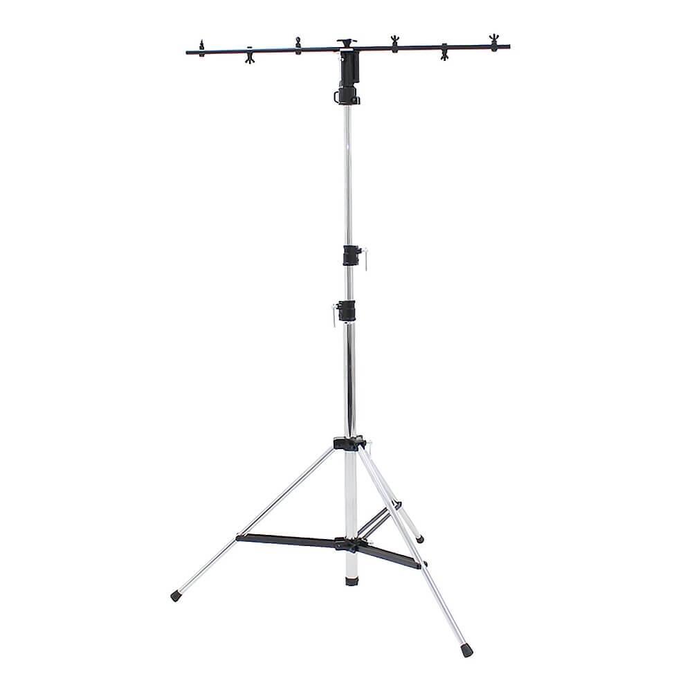Equinox Heavy Duty 3 Section Tripod Lighting Stand (Chrome)