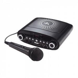 Easy Karaoke Plug & Play CD/CDG Karaoke Machine inc. Microphone