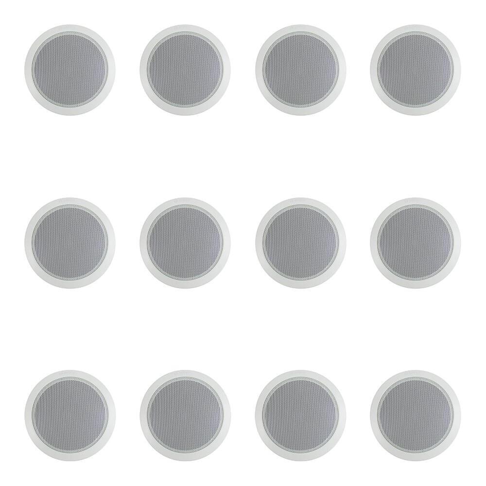 """12x Bosch 6"""" 100V Ceiling Speaker (White)"""