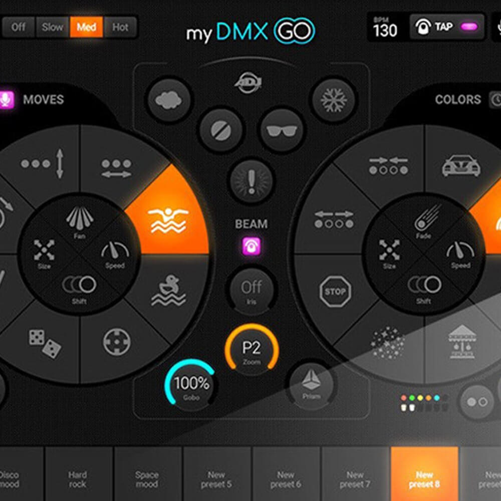 ADJ MYDMX GO iPad DMX Lighting Software Tablet Controlled Wireless DJ Disco  Controller