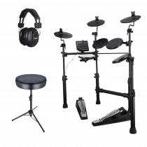 Carlsbro CSD100 Digital Drum Kit Electronic Electric, Practice Sticks, Headphones, Stool