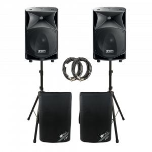 2x FBT JMAXX 114A 1800W Active 2 Way Speaker Sound System PA Bundle