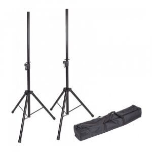 Kinsman KSS08 Pair Standard PA Speaker Stands with Carry Bag 35mm Disco DJ