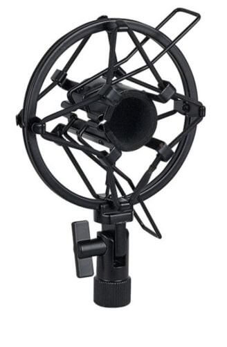 Slim Anti Shock Mount Microphone Cradle 22-24mm Heavy Duty Metal