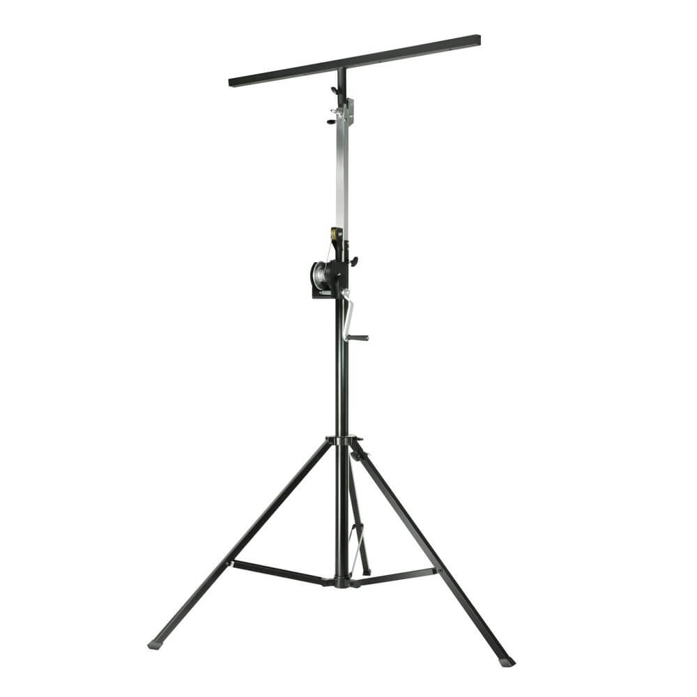 Adam Hall Stands SWU 400 T - Wind up stand with T-Bar black