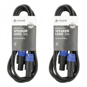 2x Chord Speakon Cable (3m)