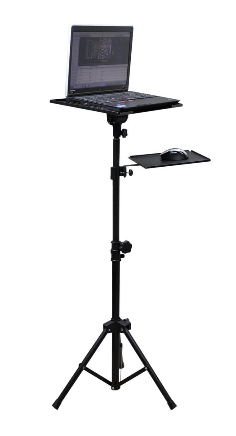 Soundlab G001DD Adjustable Tripod Projector Stand includes mouse shelf