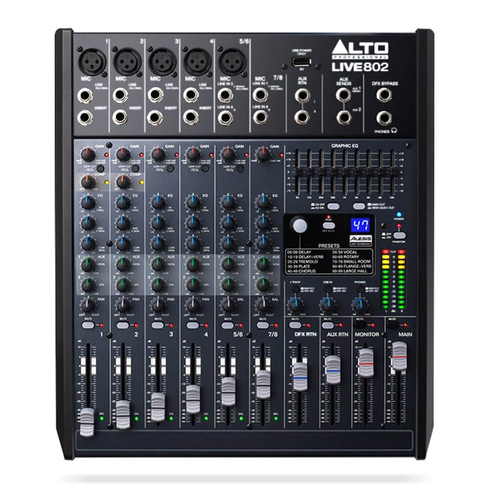 Alto Professional Live 802 Mixer FX USB 8ch