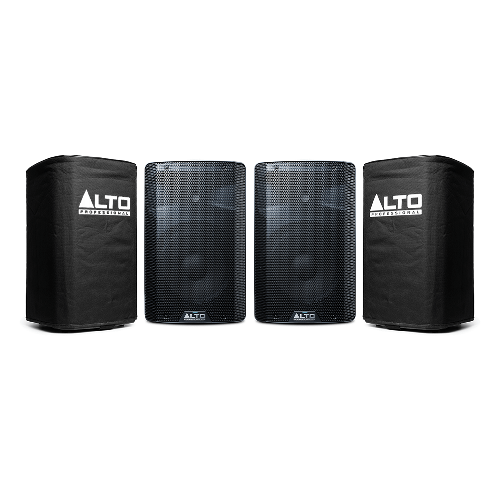 "2x Alto TX210 Active 10"" 300W Powered Loudspeakers inc Covers"