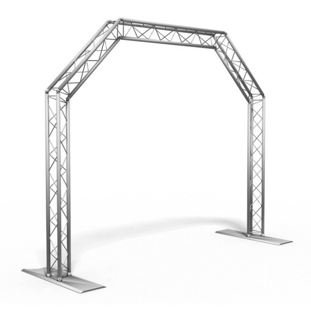 AluStage DJ Archway Lighting Stand Gantry Truss