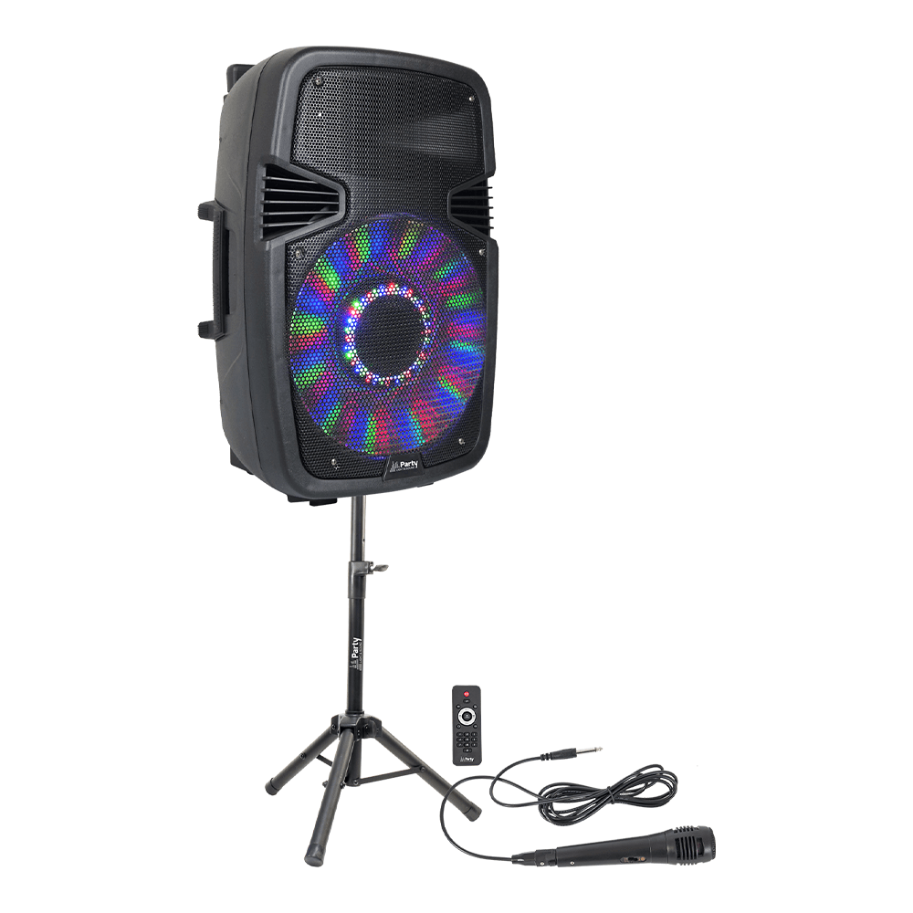 PLS PARTY-15 Pack 15 800W Speaker Sound System Bluetooth, Remote & Mic