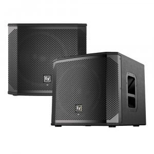 "2x Electrovoice ELX200-12SP Active 12"" Subwoofer Bass Speaker 1200W DJ Disco Sound System"