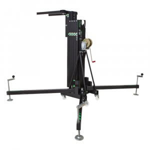 Kuzar K-50 Front Loading Lifter 5.95m 300kg SWL Winch Stand Array Tower