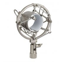 Silver Anti Shock Mount Microphone Cradle Heavy Duty Metal