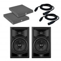 RCF Ayra Pro 5 Active Two Way Studio Monitor Speaker 75W + 25W Pair Bundle