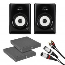 "2x RCF AYRA SIX Monitor 6"" Active Studio Monitor Speaker DJ Disco Bundle"