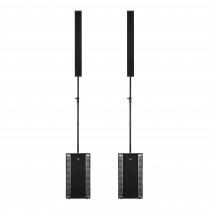 2x RCF Evox 12 Active Two Column Array Speaker System 1400W DJ Disco Sound System
