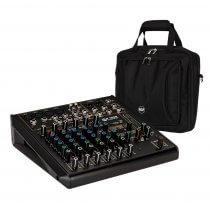RCF F-10XR 10 Channel Mixing Console Recording Karaoke FX Desk + Bag