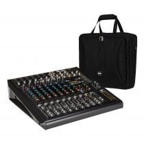 RCF F-12XR 12 Channel Mixing Console Recording Karaoke FX Desk + Bag