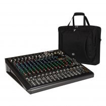 RCF F-16XR 12 Channel Mixing Console Recording Karaoke FX Desk + Bag